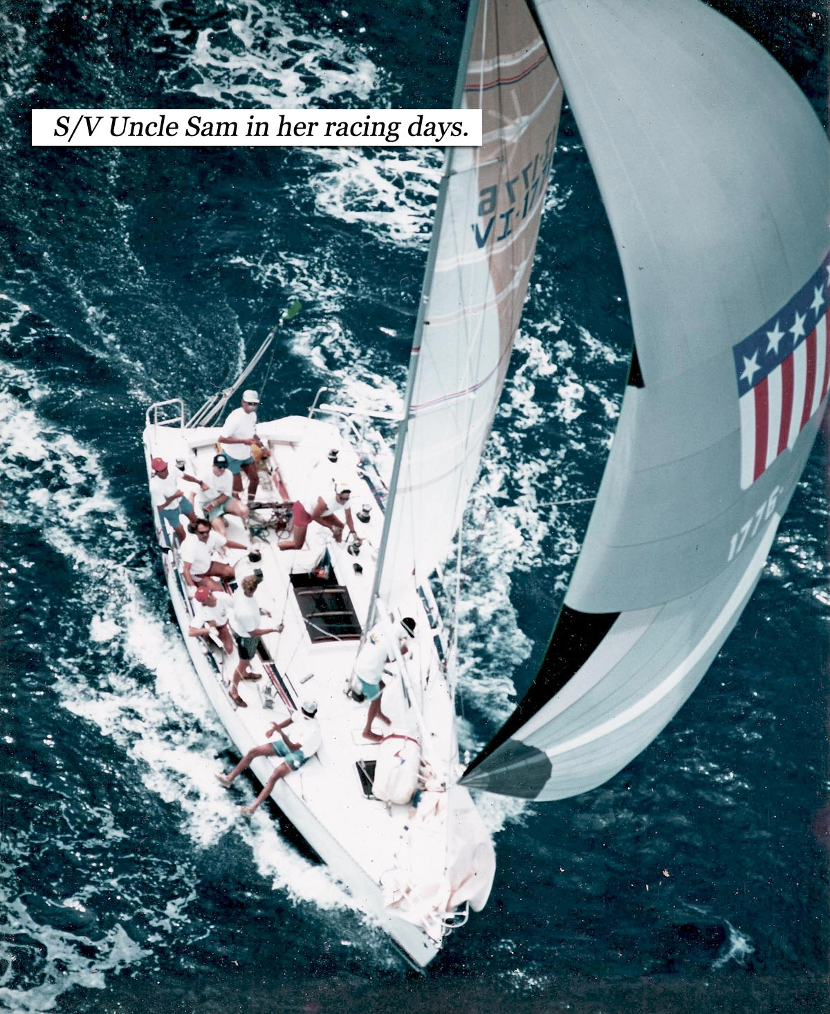Picture of racing sailboat.