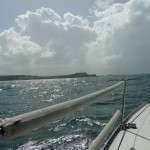 Picture from sailboat going towards El Morro.